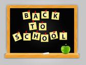 Volver a fondo escuela vector — Vector de stock