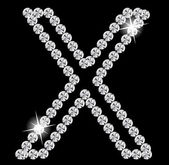 Diamond Alphabet vector illustration — Stock Vector