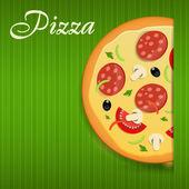 Pizza menu template vector illustration — Stock Vector