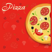 Pizza menu template vector illustration — Vecteur