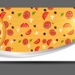 Pizza menu template vector illustration — Imagen vectorial
