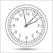 Ilustração em vetor silhueta relógio — Vetorial Stock