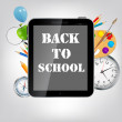 Back to School vector Background — Stockvektor