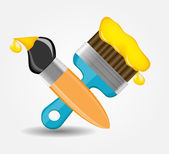 Drawing and Writing tools icon vector illustration — Stock Vector