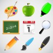 Different school icon vector illustration set1 — Stock Vector #27230377