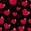 Happy Valentines Day seamless pattern background with heart. Vec — Imagen vectorial