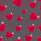 Happy Valentines Day seamless pattern background with heart. Vec — Stock Vector