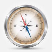 Glansigt kompass. vektor illustration. — Stockvektor
