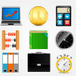 图库矢量图片: Business icon vector illustration set1