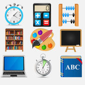 Different school icon vector illustration set2 — 图库矢量图片