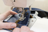 Sewing machine with needle — Stock Photo
