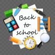Back to School vector Background — Stock Vector