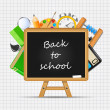 Back to School vector Background — Stok Vektör