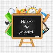 学校のベクトルの背景に戻る — ストックベクタ
