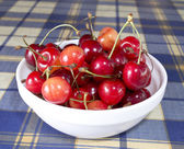Cherry in bowl — Stock Photo