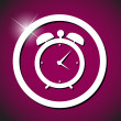 Clock alarm icon vector illustration — Stock Vector