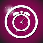 Relógio alarme icon ilustração vetorial — Vetorial Stock