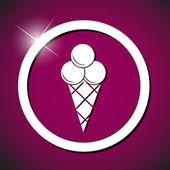 Illustrazione vettoriale di gelato icona — Vettoriale Stock