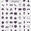 Shopping icons vector illustration — Stock Vector