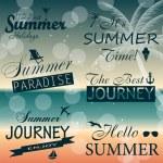 Vintage summer calligraphic elements design labels collection. V — Stock Vector #28175313