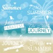 Vintage summer calligraphic elements design labels collection. V — Stock Vector