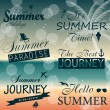 Vintage summer calligraphic elements design labels collection. V — Stock Vector #28175313