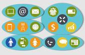 Różne ikony biznes, finanse i komunikacji wektor ilus — Wektor stockowy