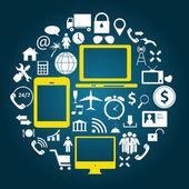 Social media concept vector illustration — Stock Vector