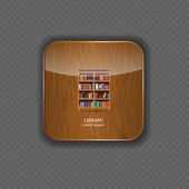 Library wood application icons vector illustration — Stockvektor
