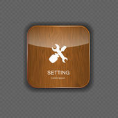 Setting wood application icons — Stock Vector