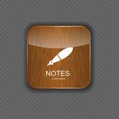 σημειώσεις εικονίδια εφαρμογής διανυσματικά εικονογράφηση — Διανυσματικό Αρχείο