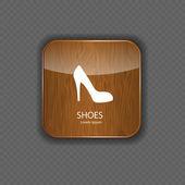 Icônes d'application bois de chaussures — Vecteur