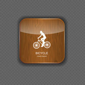 Bicycle wood application icons — Stock Vector