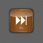 Le icone di applicazione legno musica vettoriale illustrazione — Vettoriale Stock