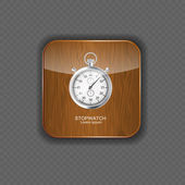 Stopwatch wood application icons vector illustration — Stock Vector