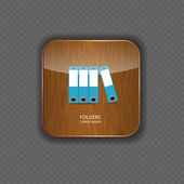 Folders wood application icons vector illustration — Stock Vector