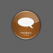 Feedback wood application icons — Vector de stock