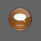 Iconos de aplicaciones madera de retroalimentación — Vector de stock
