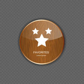 Favourites wood application icons vector illustration — Stock Vector