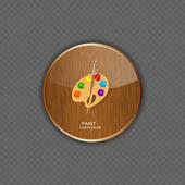 漆木应用程序图标矢量图 — 图库矢量图片