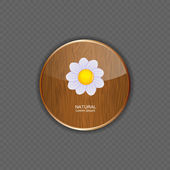 Flower wood application icons vector illustration — Stock Vector