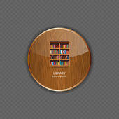 Library wood application icons vector illustration — Stock Vector