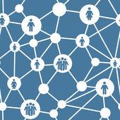 Social media concept seamless pattern vector illustration — Stock Vector