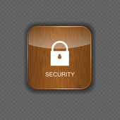 Security wood application icons — Stock Vector