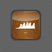 City wood application icons vector illustration — Stok Vektör