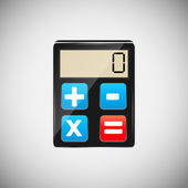 Calculator wood application icons vector illustration — Vetorial Stock