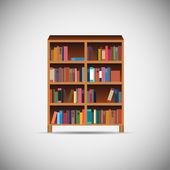 Iconos de aplicaciones madera biblioteca vector illustration — Vector de stock