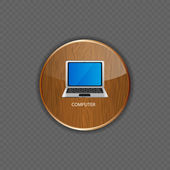 Computer wood application icons vector illustration — Stock Vector
