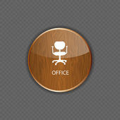 Office wood application icons vector — Stock Vector