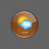 Weather wood application icons — Stock Vector